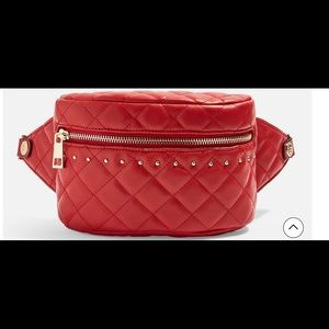 Red Quilted Bumbag